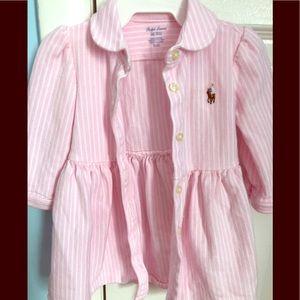 Ralph Lauren 💯 % cotton dress (6 months)